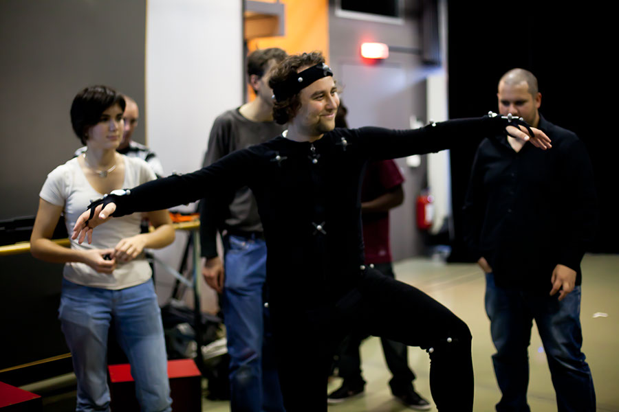 Motion Capture workshop with the students from SAE Institute