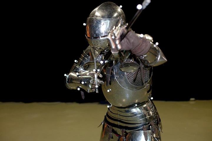 Mocap with a medieval armorI