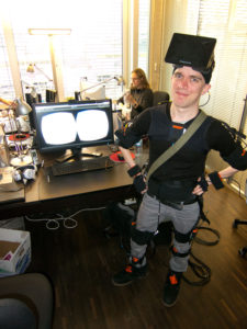 Tobias Baumann testing full-body VR
