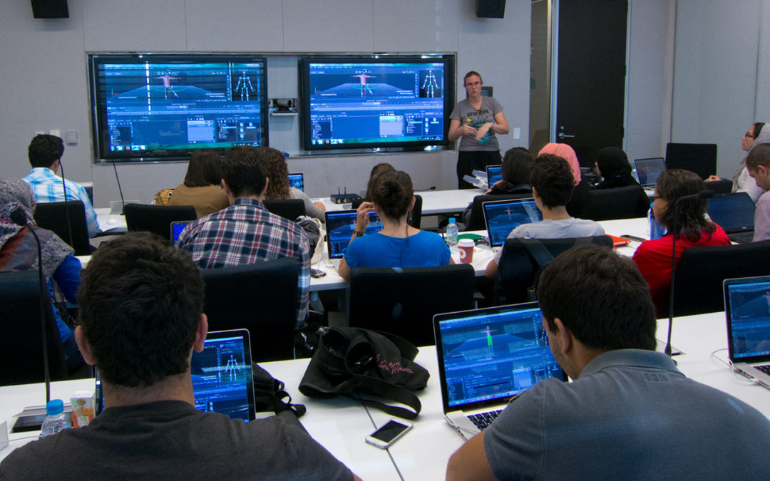 Motion capture workshop with students of KAUST