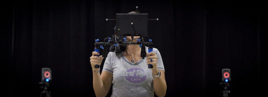 The Optitrack Insight VCS shoulder mounted