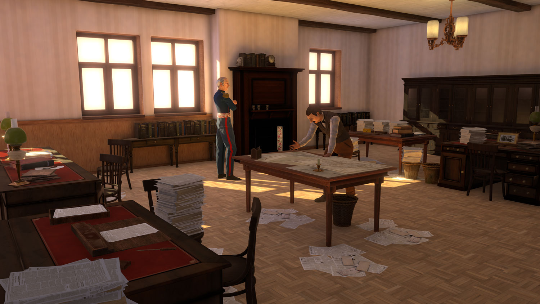 Geneva 1850 - Journal de Genève with James Fazy and General Dufour